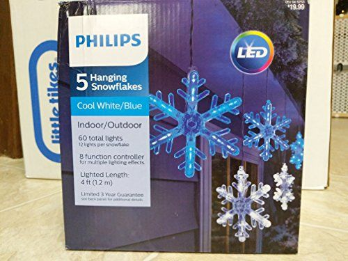 christmas snowflake lights - Philips 5 Count LED Blue/Cool White