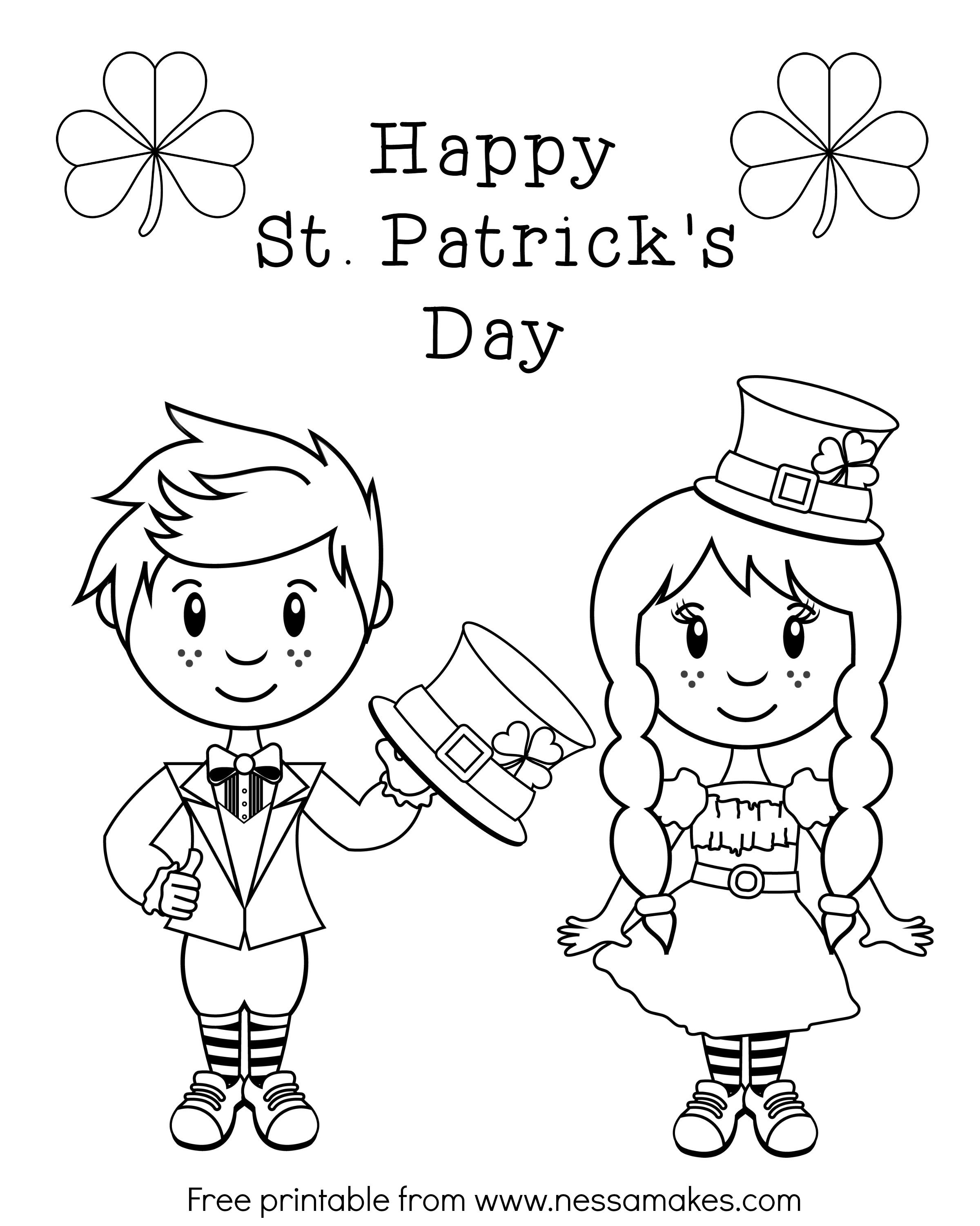 Free Printable St Patrick S Day Color Sheet Nessa Makes Printables Free Kids Coloring Coloring Pages Coloring Pages For Kids [ 3000 x 2400 Pixel ]