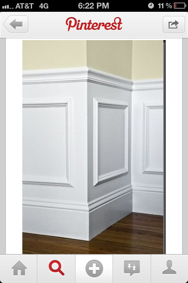 Chair Rail | it's our's! | Pinterest | Wainscoting, Wanes ...