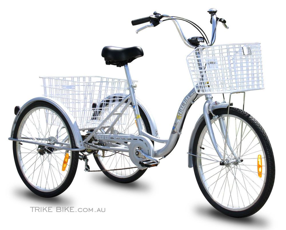 Trike Bike Adult Tricycle 3 Wheeled Bicycle 6 Gears My Bike ...