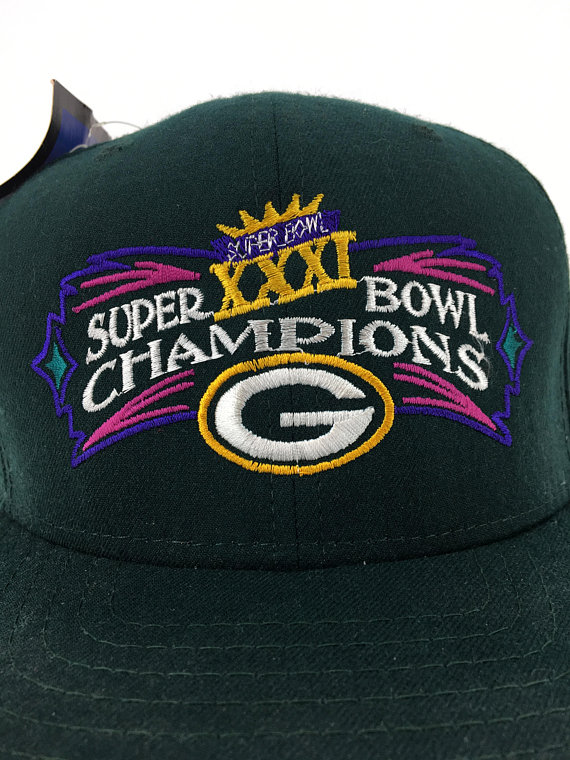Vintage 1997 Green Bay Packers Super Bowl XXXI Champions Snap-Back Hat -  Never Worn - NOS - NFL - Fo a3473245c