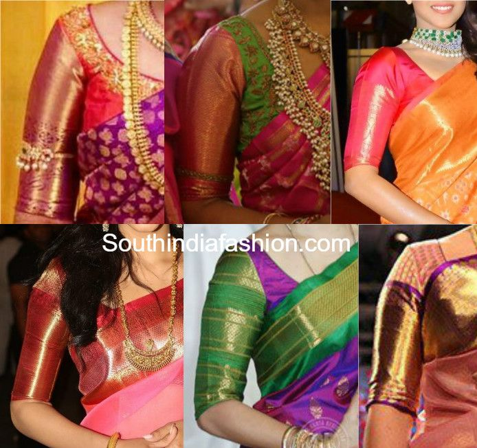 Big Border Blouse Patterns For Your Kanjeevarams Saree