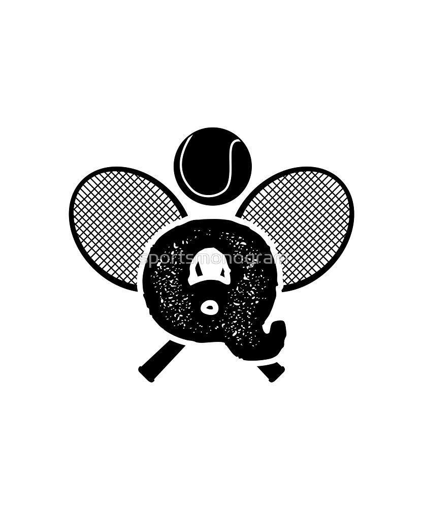 Monogram Q Crossed Tennis Racquets By Sportsmonogram Monogram Tennis Racquets Monogram Shirts