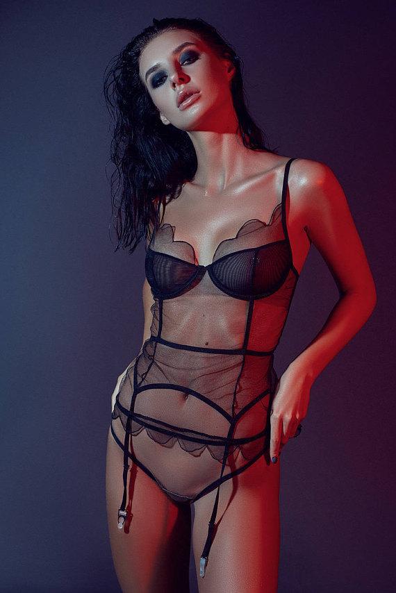 b6cc021410 see through panties   erotic lingerie   transparent lingerie   mesh corset    sheer lingerie   gift f