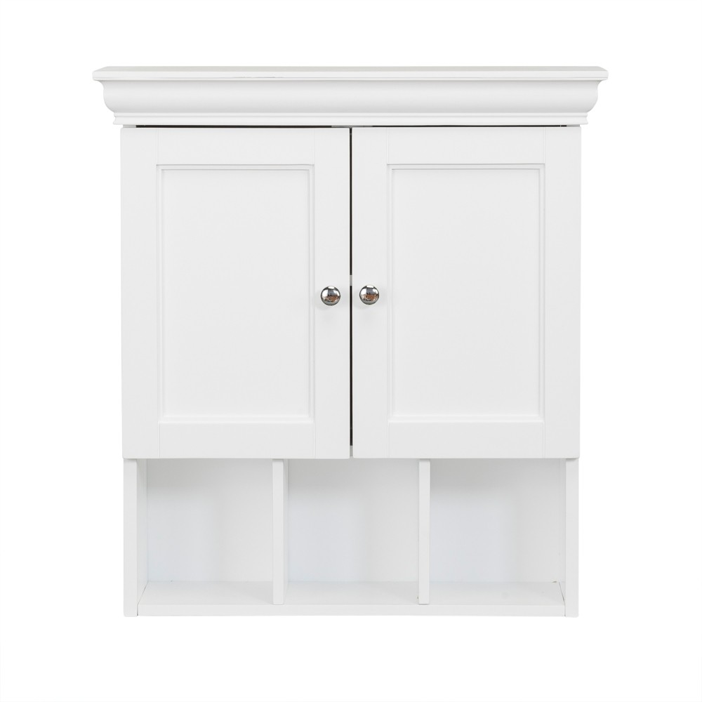 Contemporary Home Accessories Cabinets Bourbon Two Contemporary Doors And Open Shelf Decorative Wall Cabinet White Elegant Home Fashions Bathroom Wall Cabinets Wall Cabinet Wall Mounted Cabinet