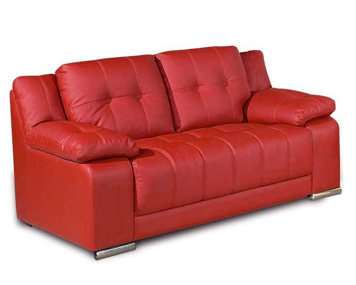 Red Leather 2 Seater Sofa | Sofa upholstery, Sofa, 2 seater sofa