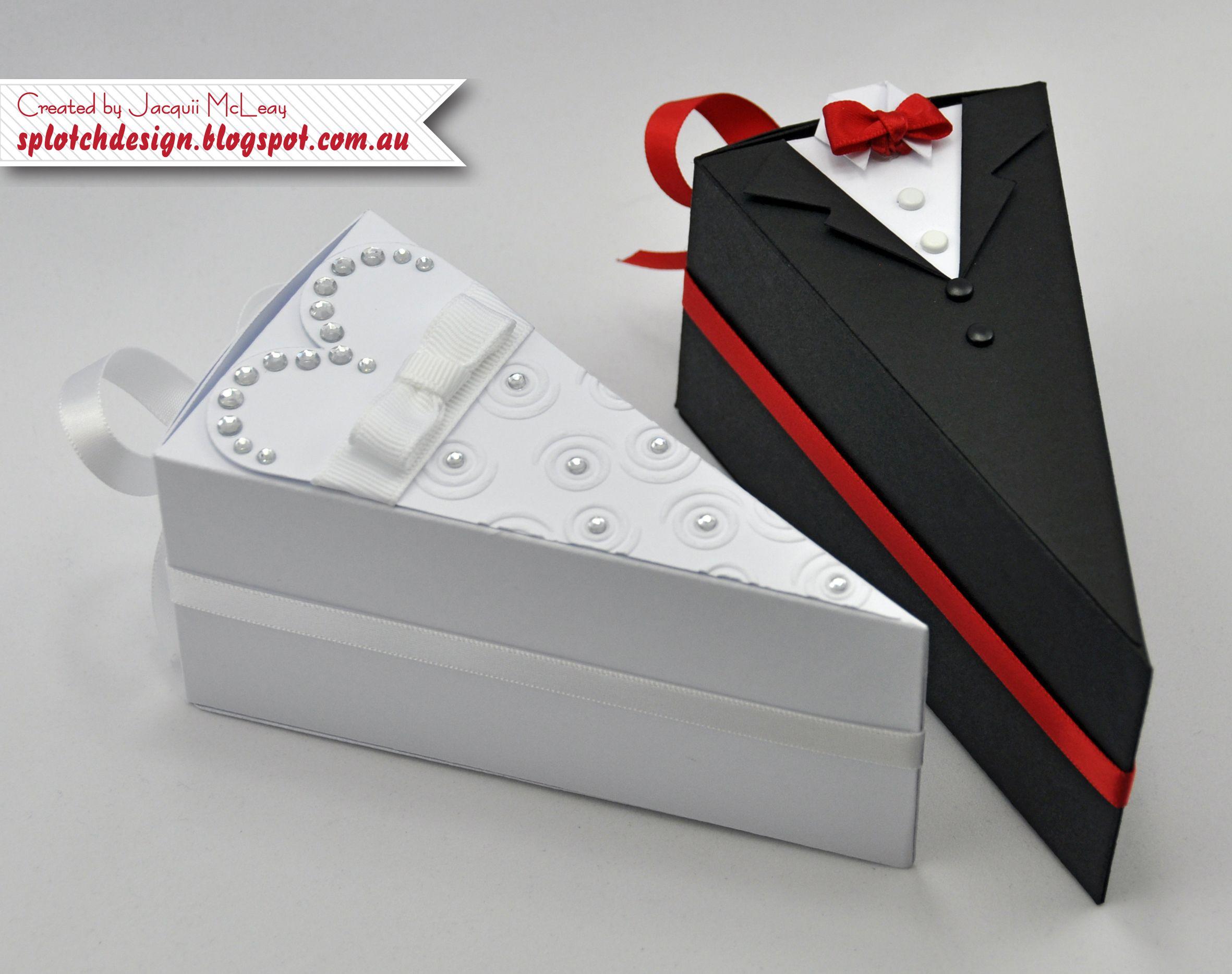 Splotch Design Jacquii Mcleay Stampin Up Wedding Cake Boxes