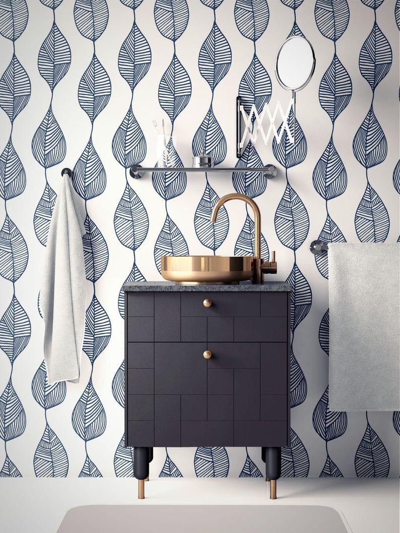 Minimalist Removable Wallpaper Abstract Leaves Wallpaper Modern Wallpaper Peel And Stick Wallpaper Self Adhesive Wallpaper 115 Removable Wallpaper Peel And Stick Wallpaper Modern Wallpaper