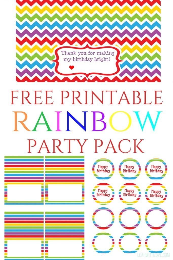 ag 39 s 3rd birthday rainbow theme rainbow birthday parties rainbow birthday and bag toppers. Black Bedroom Furniture Sets. Home Design Ideas