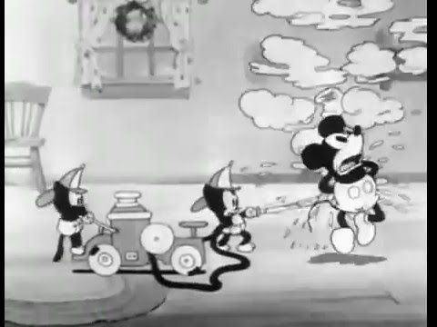 Mickey's Orphans (1931) Mickey Mouse. At Christmastime, Mickey Mouse, Minnie and Pluto are beset by an enormous litter of bratty orphan cats. Christmas; Mickey and Minnie are singing carols. Someone drops a basket on the doorstep that has what seems like hundreds of kittens; they quickly overrun the house. Mickey dresses as Santa, with Pluto as a reindeer, and brings gifts for the kittens.