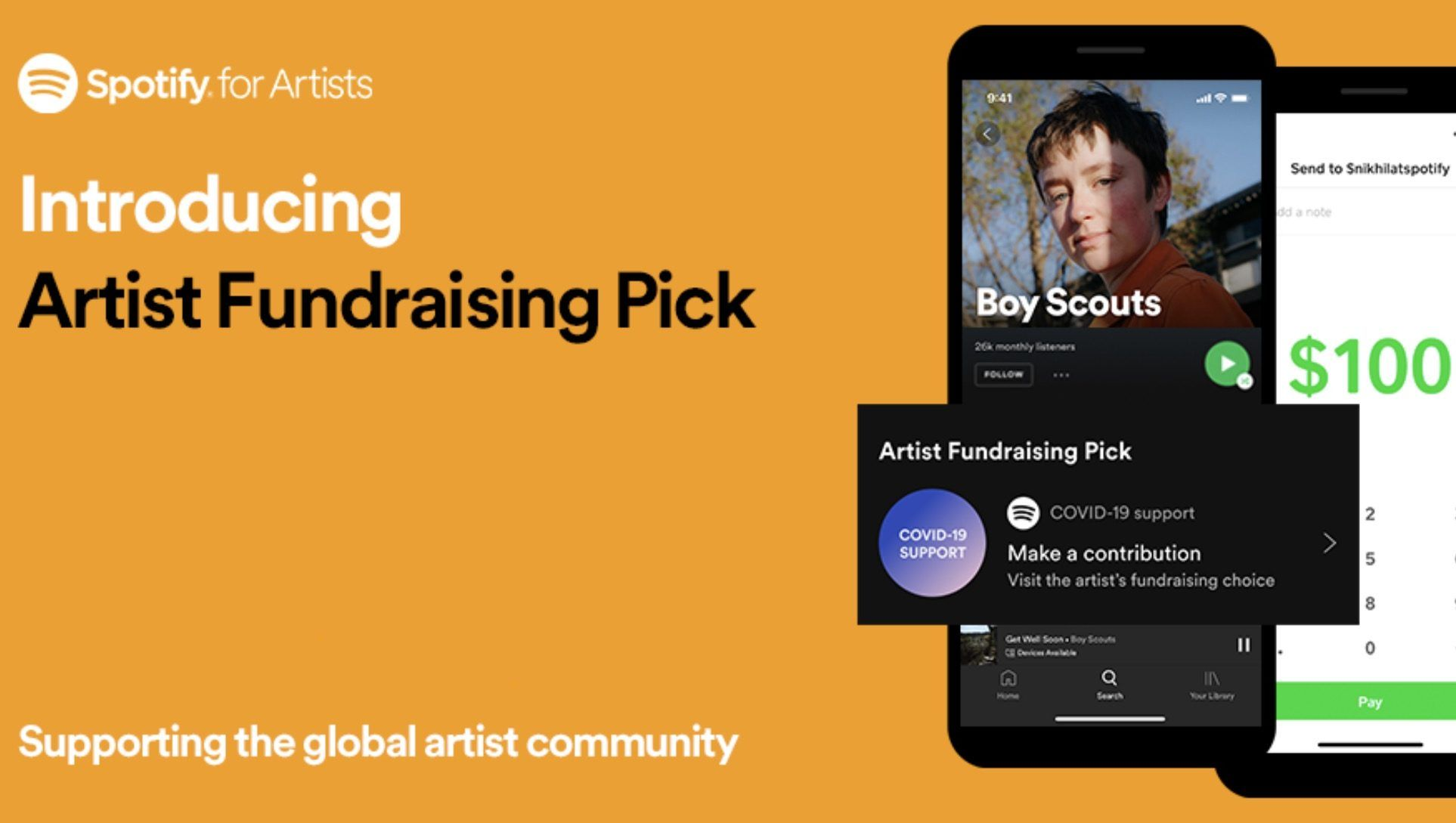 Spotify now enables fans to pay artists money direct via