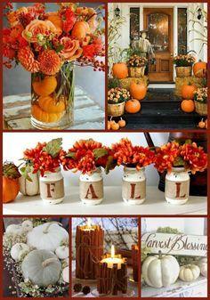 Rustic Fall Decor - Fall Table Decor - Thanksgivin