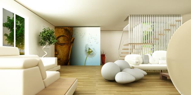 Einrichtungsideen im japanischen stil zen ambiente  2016 Yatak Odası Perde Dekorasyonu Önerileri 2016 Yatak Odası ...