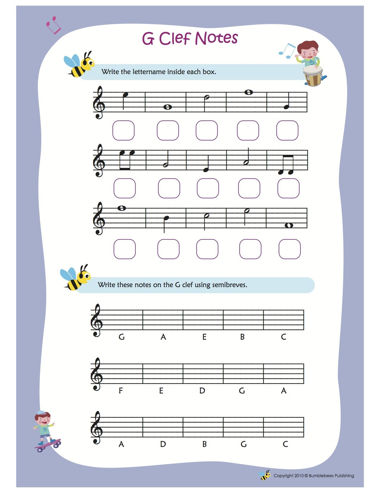 Treble Clef Fun Note Reading Shape Worksheets For Preschool Writing Sentences Worksheets Writing Practice Worksheets