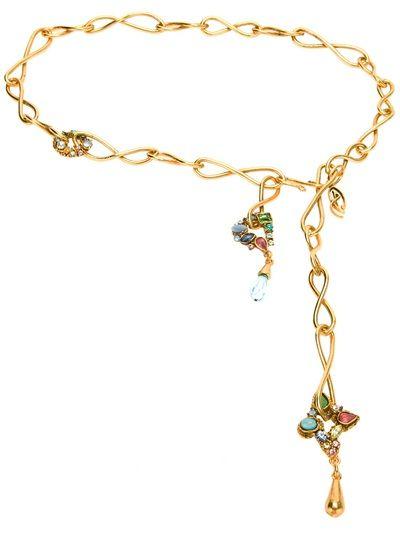 CHRISTIAN LACROIX VINTAGE - gold tie necklace 6