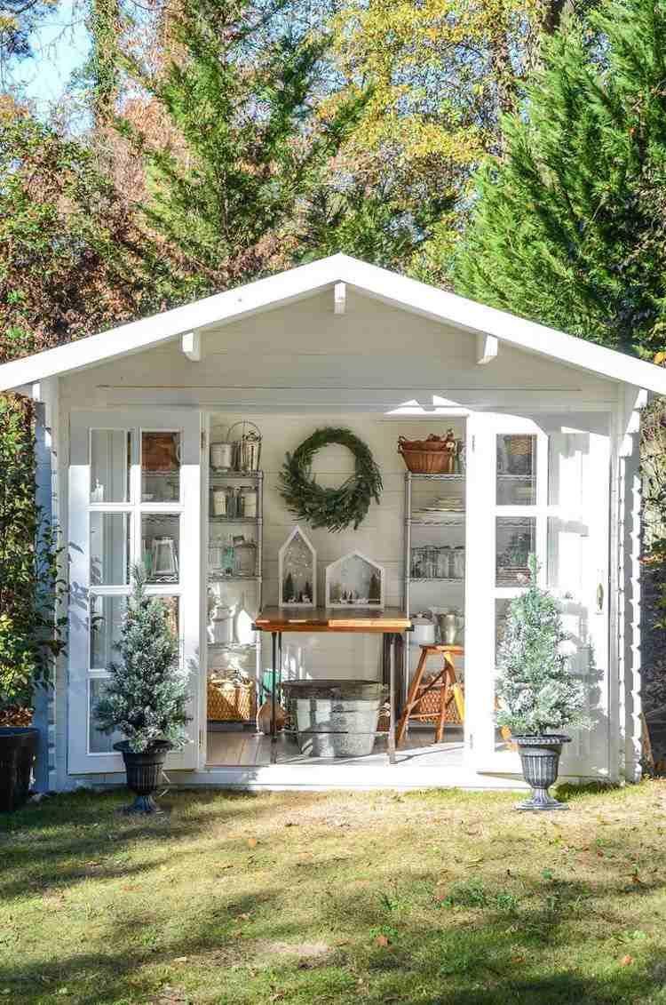 Abri De Jardin 23 Id Es Pour Mieux Utiliser Votre Cabane Abris  # Abri De Jardin Outils