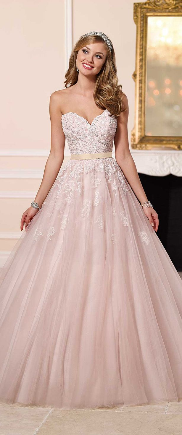 Stella York Spring 2016 Bridal Collection Belle The Magazine Pink Wedding Dresses Light Pink Wedding Dress Ball Gowns Wedding