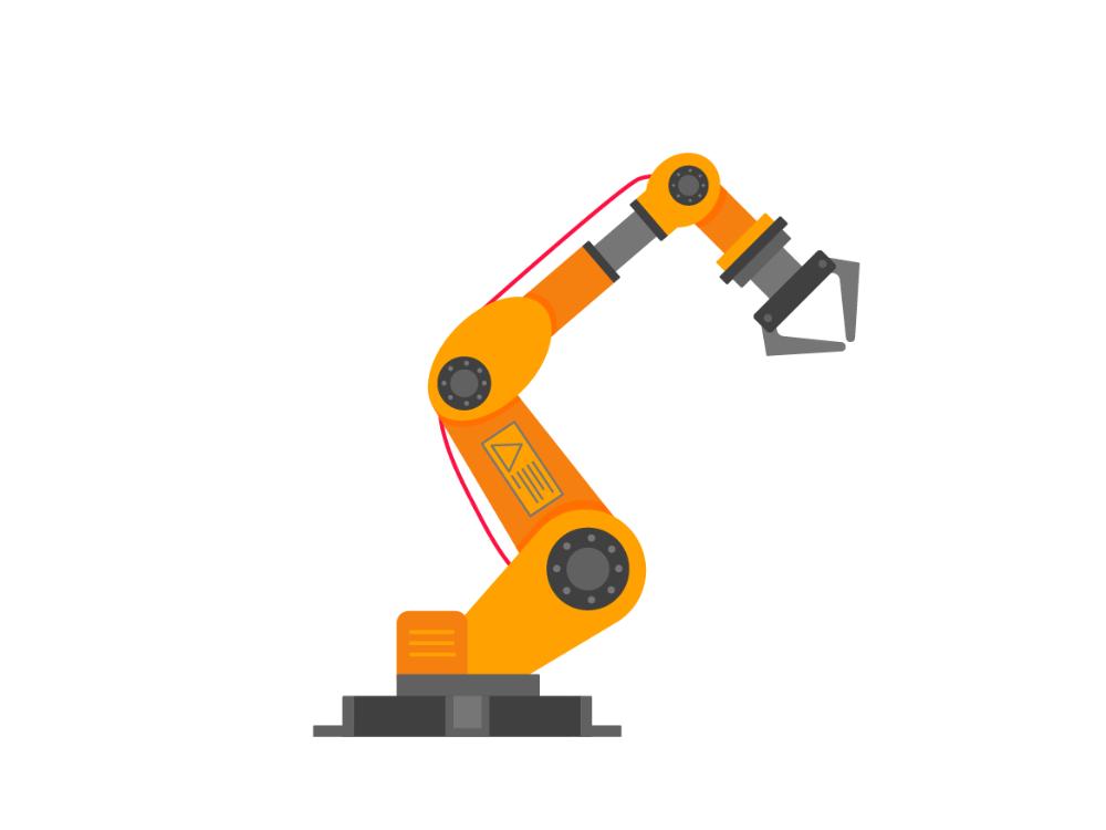 Robotic Arm Flat Style Design Vector Illustration By Konstantin Mironov On Dribbble Robot Arm Vector Logo Design Fashion Flats