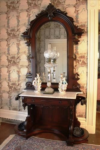 Extremely Rare Victorian Hall Tree In Rosewood On