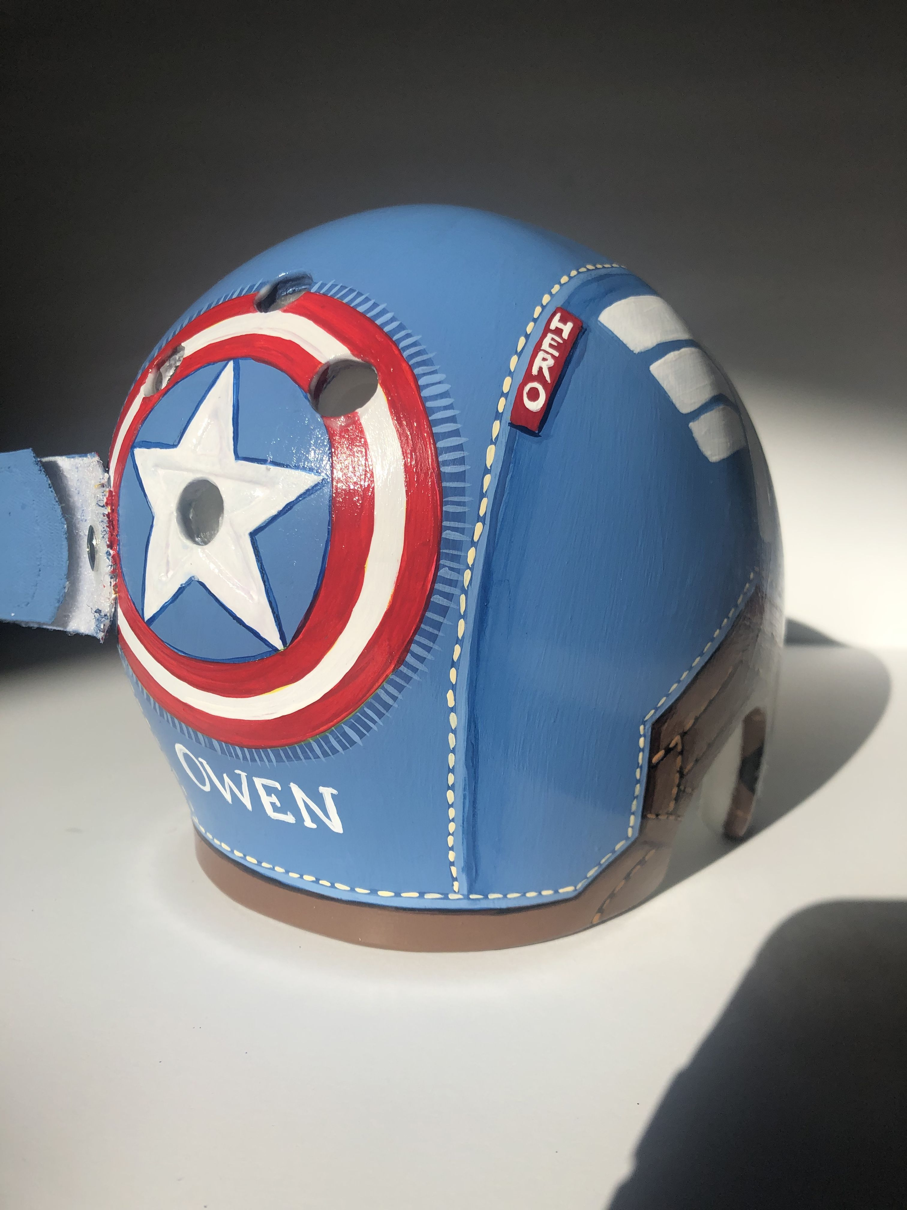 Captain America baby helmet Baby helmet, Riding helmets