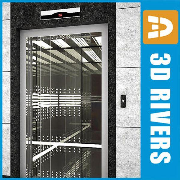 3D Building Elevator Model - 3D Model   3d model   3d