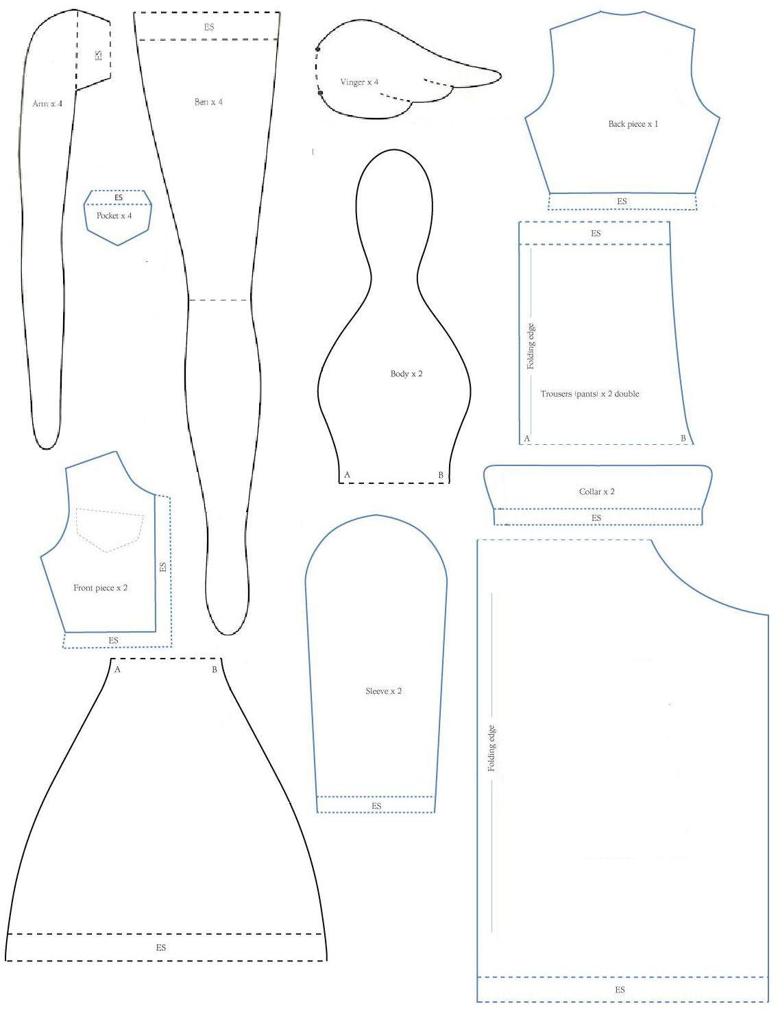 tilda pattern angel jeansjacket - Ngel Muster Selber Machen