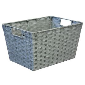 Lowes Laundry Baskets Lowes $538 10In W X 8In H X 14In D Grey Woven Paper Cord Basket