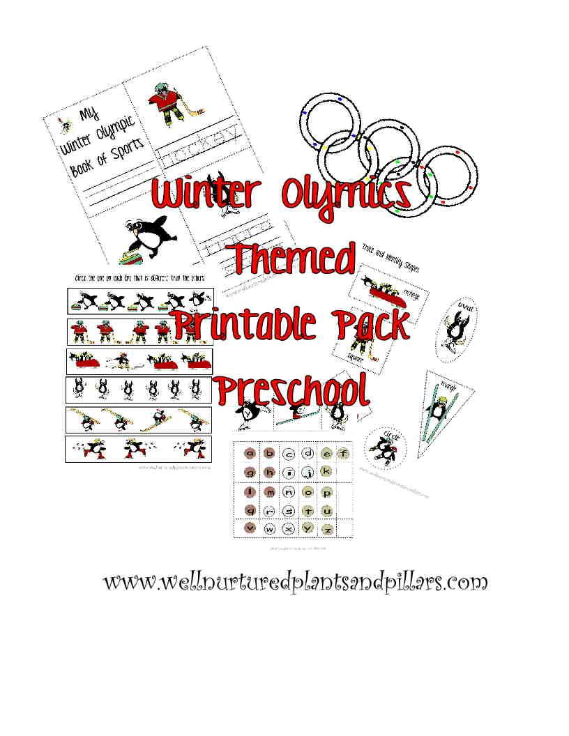 Free Winter Olympic Themed Printable Pack Preschool Winter Olympics Preschool Olympics Winter Preschool [ 1056 x 816 Pixel ]