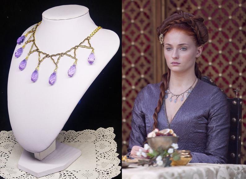 Sansa Stark Purple Wedding Poison Necklace Game Of Thrones