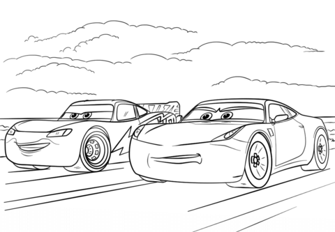 Mcqueen And Ramirez From Cars 3 Coloring Page From Disney Cars Category Select From 25655 Printable Cars Coloring Pages Coloring Pages Pictures Of Sports Cars