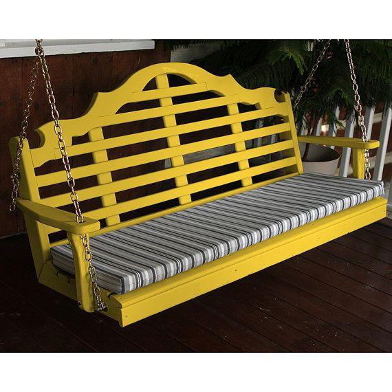 Pino amarillo Marlboro 4 pies porche al aire libre oscilación ...