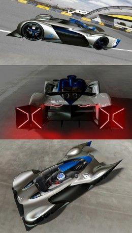 Alpine Vision Gran Turismo Concept Design Sketch Renders by Bertrand Grisard