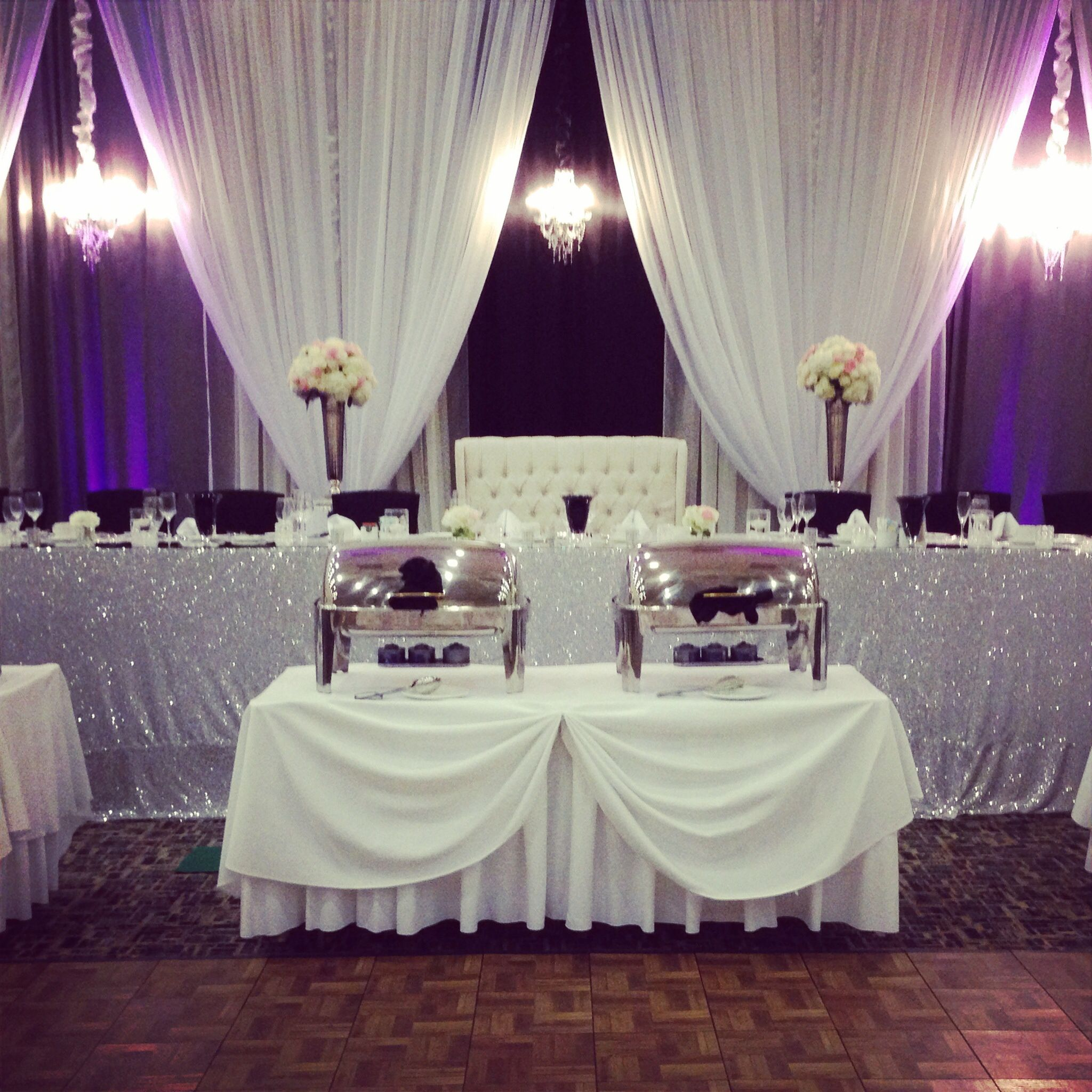 Fresh Black and Purple Wedding Decorations
