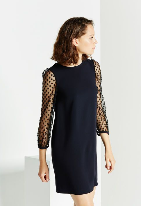 Robe de soirée, robe de fêtes Claudie Pierlot robe plumetis Moda Outfits,  Fall