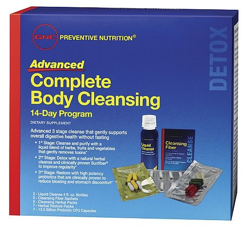 Gnc Preventive Nutrition Advanced Complete Body Cleansing Program