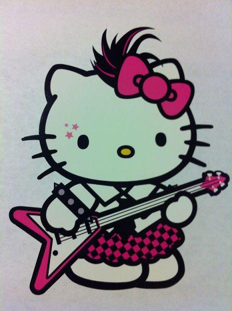Hello Kitty punk rocker (sticker)
