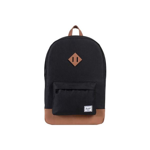 1485535d31ba Herschel Supply Co. Heritage Backpack - Black Tan ( 60) ❤ liked on ...
