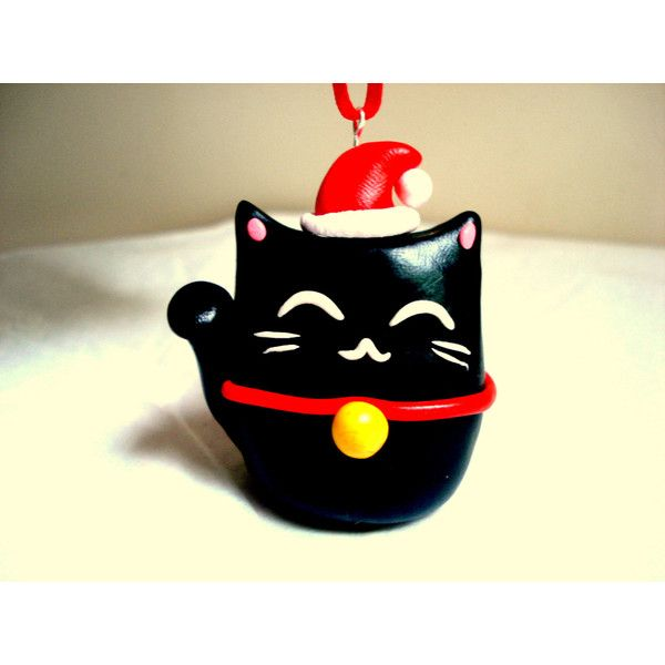 13 liked on polyvore featuring home home decor holiday decorations black cat christmas tree ornament black christmas tree ornaments christmas - Black Cat Christmas Tree Decoration