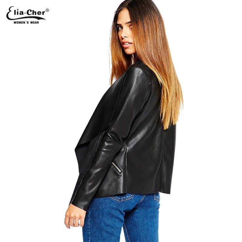 Women Jackets Eliacher Brand Winter Spring Jacket Women 2017 Black ... 7d121bfac9a5