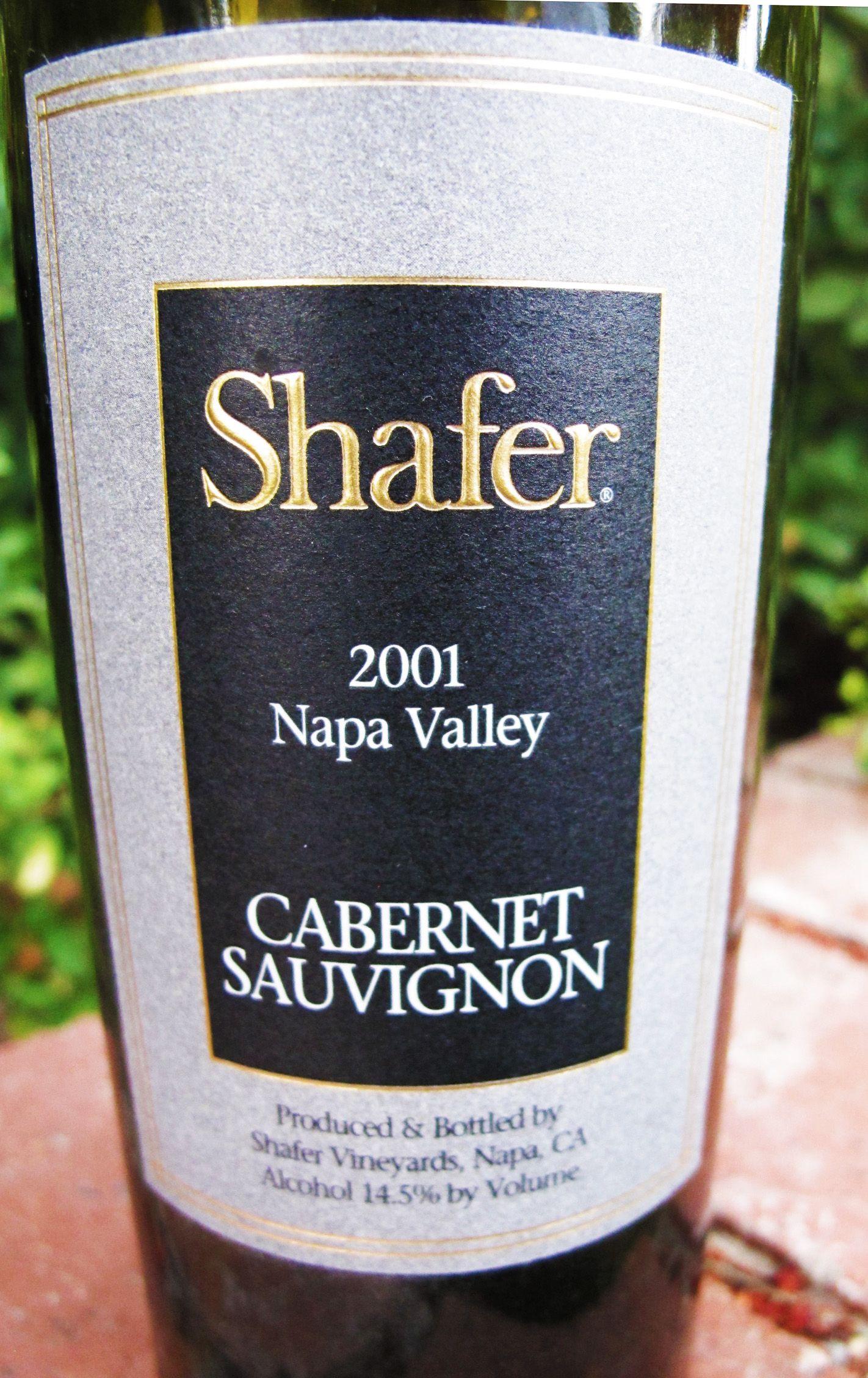 2001 Shafer Napa Valley Cabernet Sauvignon   Wine   Wines ...