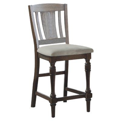 Winners Only Xcalibur Slat Back Counter Stool - Set of 2 - WIN494-1