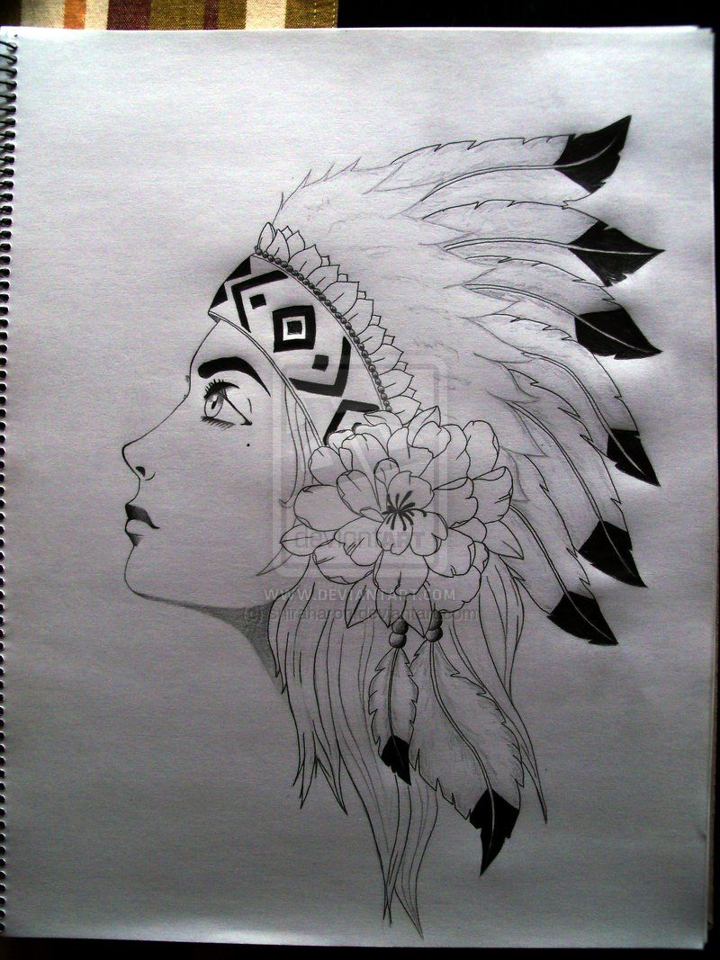Pencil Drawings Native American Easy Displaying 19 - Of