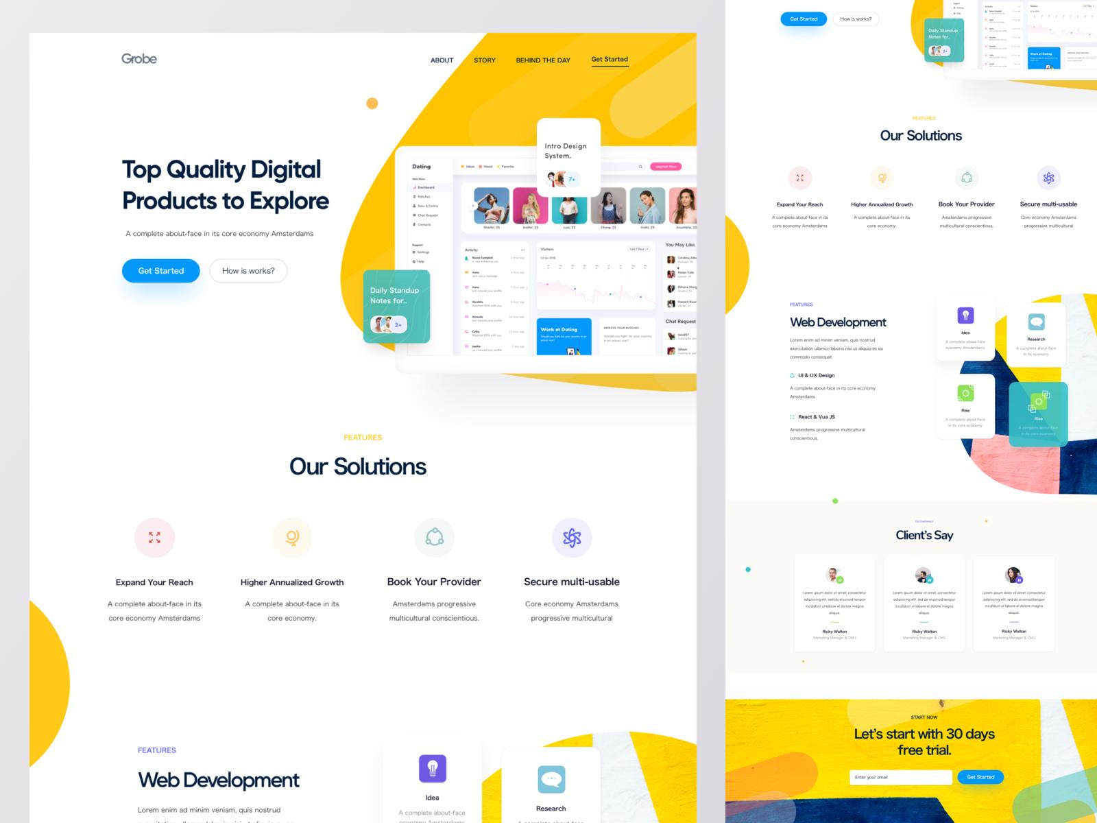 Sass Landing Page V3 Landing Page Startup Design Web Design