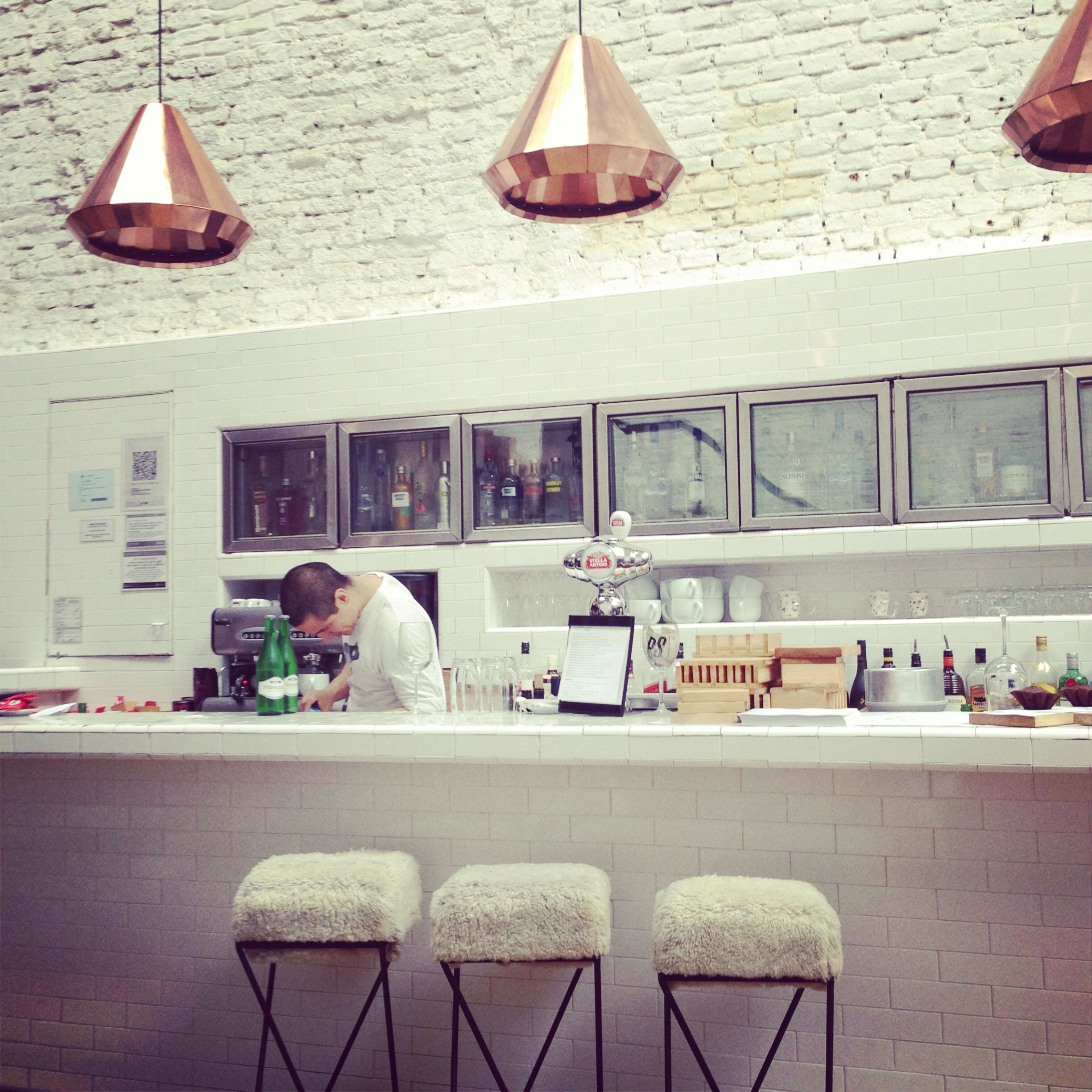 A Scandinavian design style at Olsen, Palermo Hollywood, Buenos Aires, Argentina.   #olsen #palermo #buenosaires #argentina #cafe #design #interior #scandinavia
