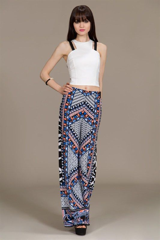 New Flying Jealous Tomato Palazzo Bold Print Boho Chic Pant easy loose fit S M L – Bold n beautiful