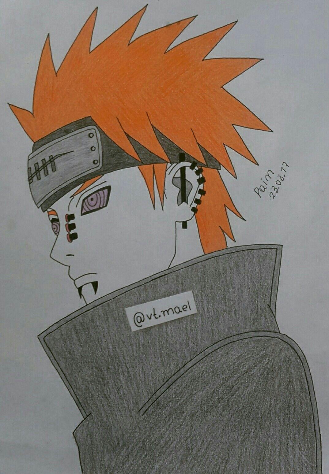 By vt mael ✍ ismael tavares 📌 pain yahiko ✒ hand drawing rinnegan akatsuki nagato naruto shippuden anime ismael tavares