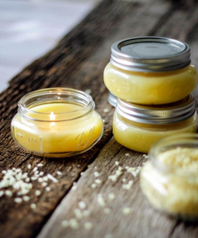 DIY beeswax candles using this guide.