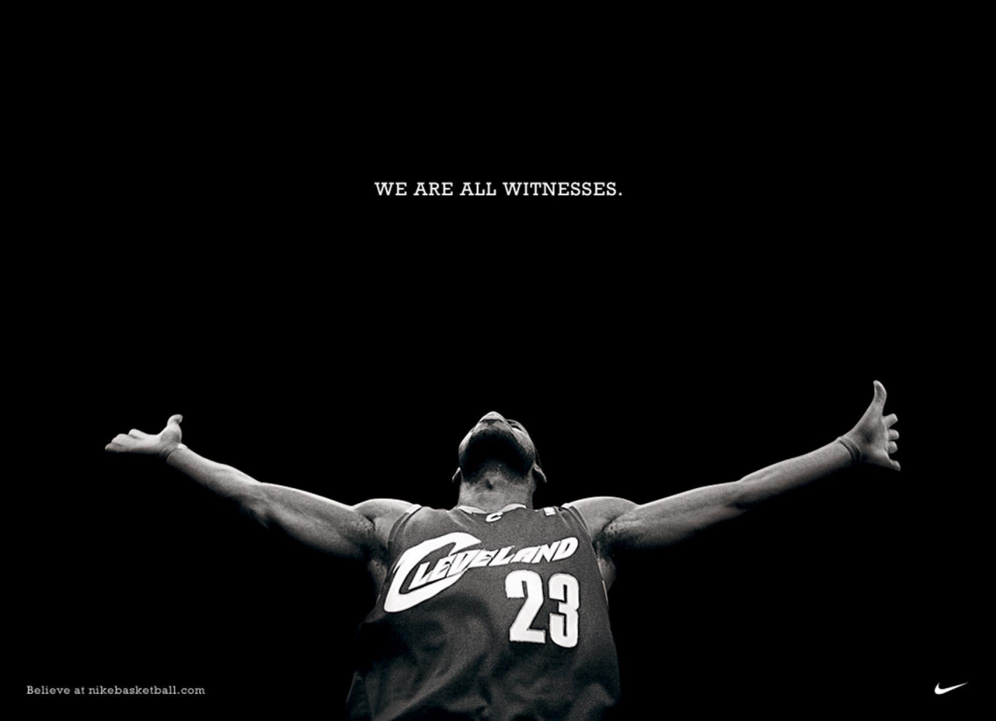 LeBron James Wallpaper We Are All Witnesses  25fcf5017