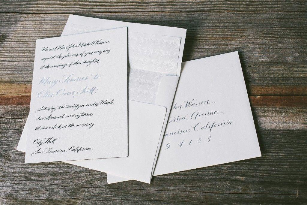 Wedding invitations & calligraphy addressing by Nicole