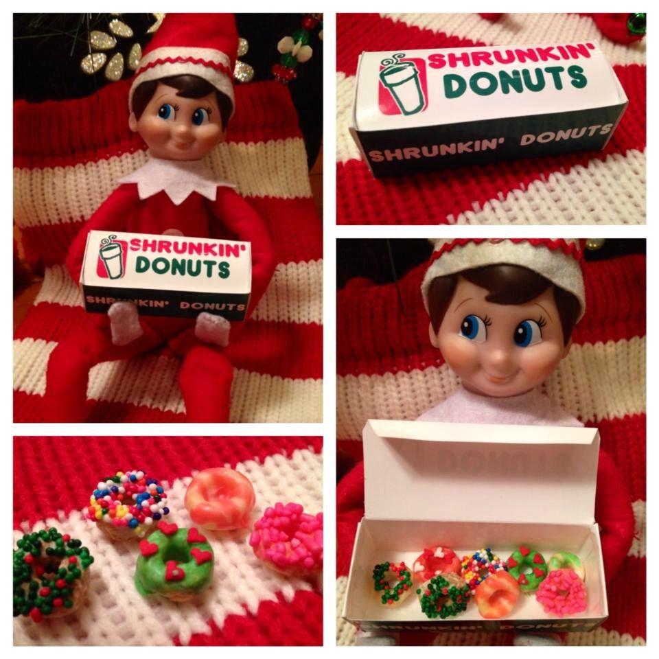 Elf Donut Box Elf On The Shelf Doughnuts Printable Donut Box